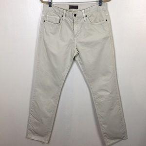 Vince Slim Straight Tan Cotton Jeans